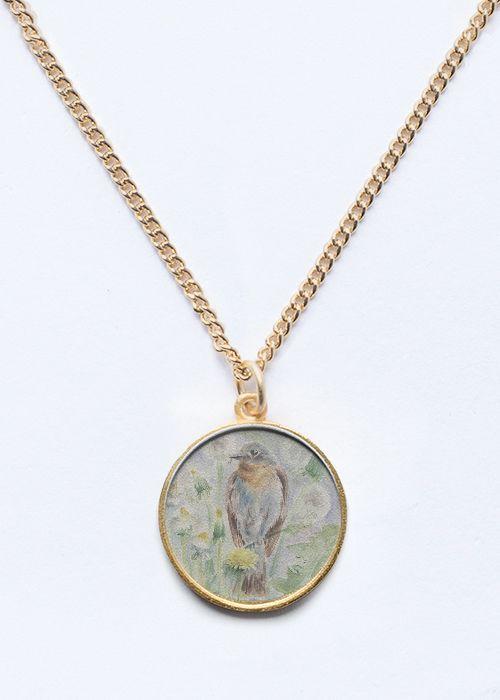 Spring Bird Gold / Silver Pendant. Wildlife collection of jewelry #fashion #trend2017 #spring2018 #wildlife #birds #jewelry