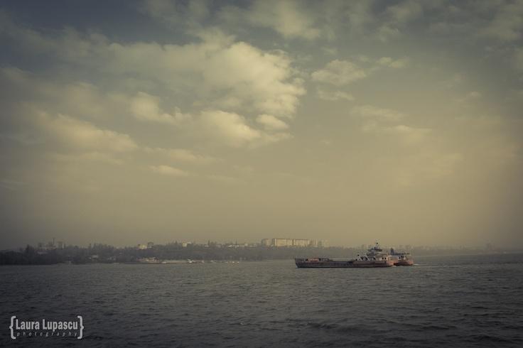 The foggy Danube