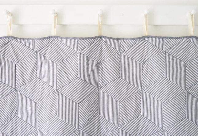 Striped Tumbling Blocks Quilt | Purl Soho