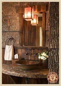 The Grey Home: 20 rustic bathroom design