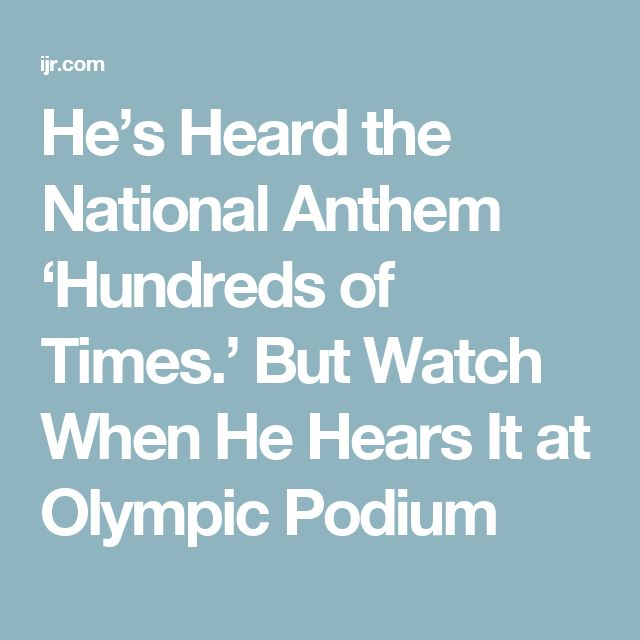 He's Heard the National Anthem 'Hundreds of Times.' But Watch When He Hears It at Olympic Podium