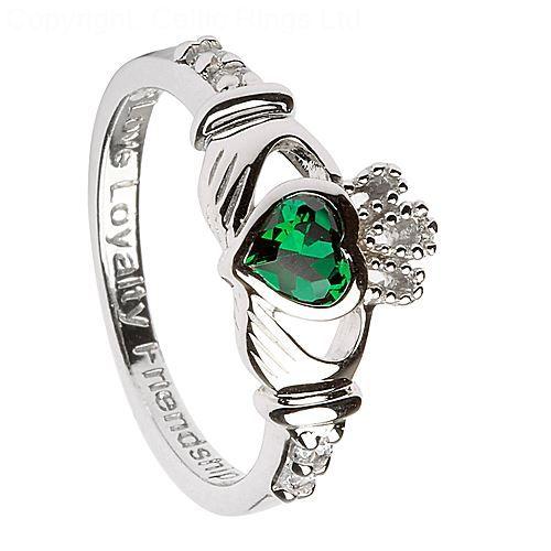 Claddagh Ring Birthstone April