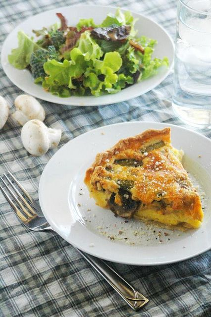 Best quiche recipe. Light and fluffy but still creamy. Great for brunch, lunch or dinner!