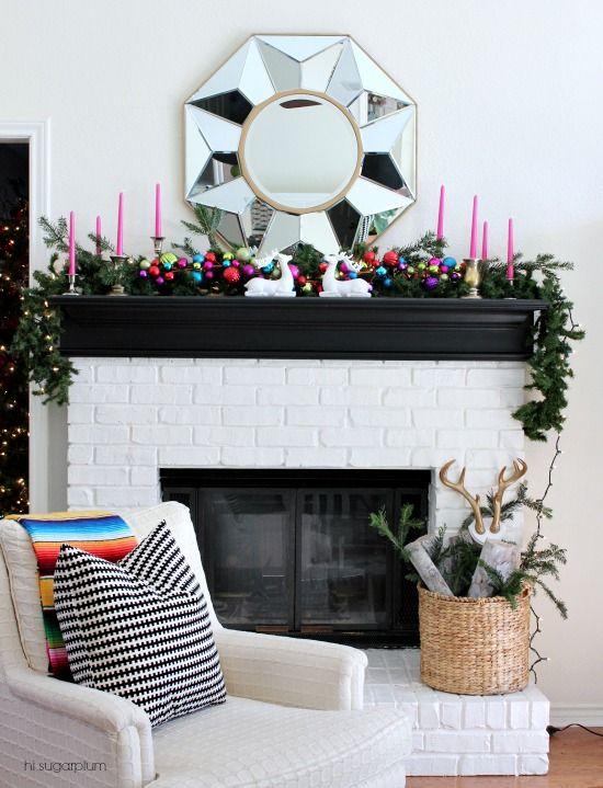 Hi Sugarplum   Colorful Christmas Mantel
