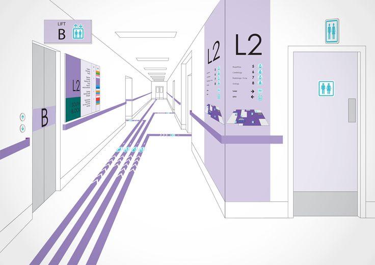 wayfinding hospital - Cerca con Google                                                                                                                                                                                 Más