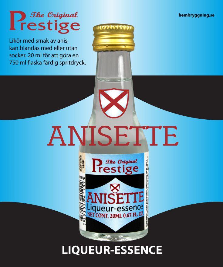 Likör med smak av anis, kan blandas med eller utan socker. 20 ml för att göra en 750 ml flaska färdig spritdryck.