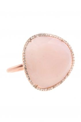 pink opal diamond ring...
