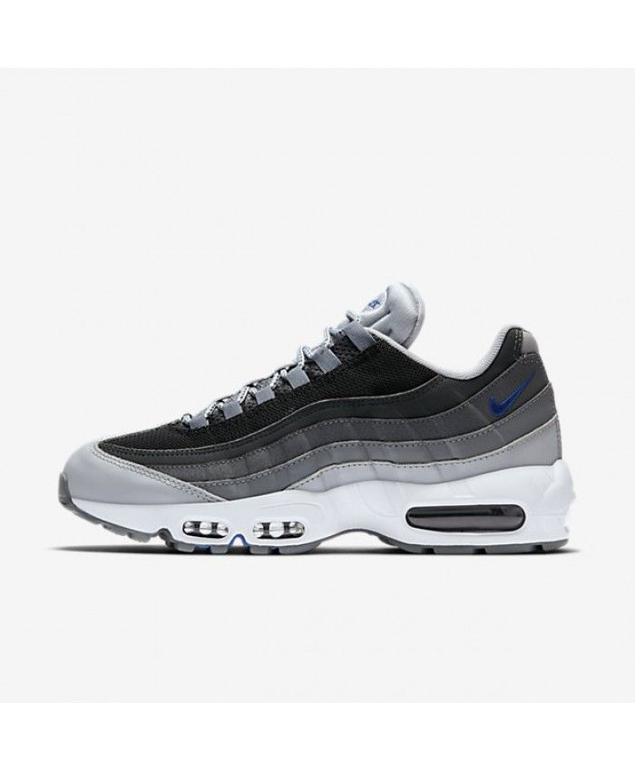 quality design ca923 9013b Nike Air Max 95 Essential Wolf Grey Black Dark Grey Game Royal Mens Shoes  Outlet