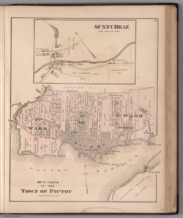 Map of Out-Lots of the Town of Pictou and inset map of Sunny Brae