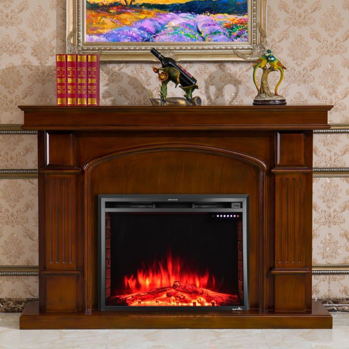 electric fireplace insert freestanding stove heater without real rh pinterest com