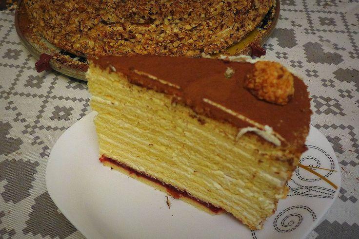 Sprawdzony przepis na marcinka, czyli ciasto wielowarstwowe.
