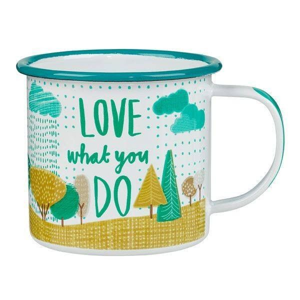 The Thoughtful Gardener Enamel Mug