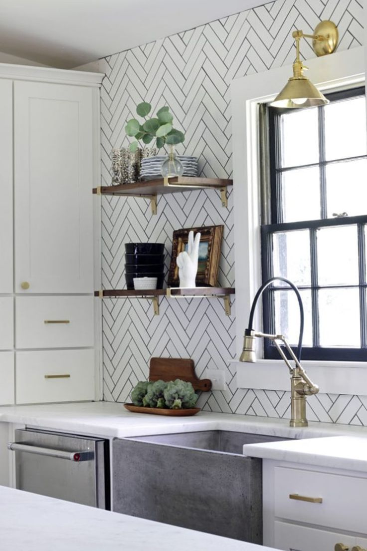 Watch Out Subway Tile, Herringbone Might Be the Coolest New Tile Trend