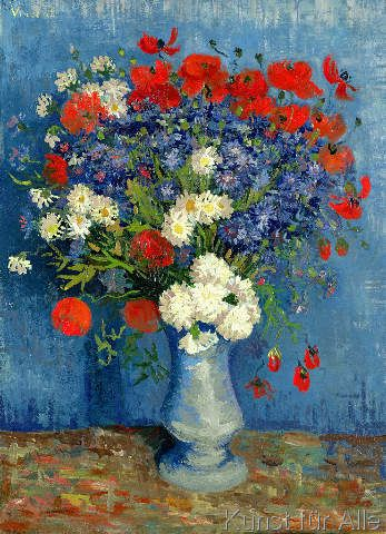Vincent van Gogh - Still Life: Vase with Cornflowers and Poppies, 1887