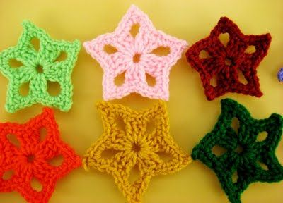 Free Crochet Pattern For Star Garland : free star crochet pattern Crochet! Crochet! Pinterest
