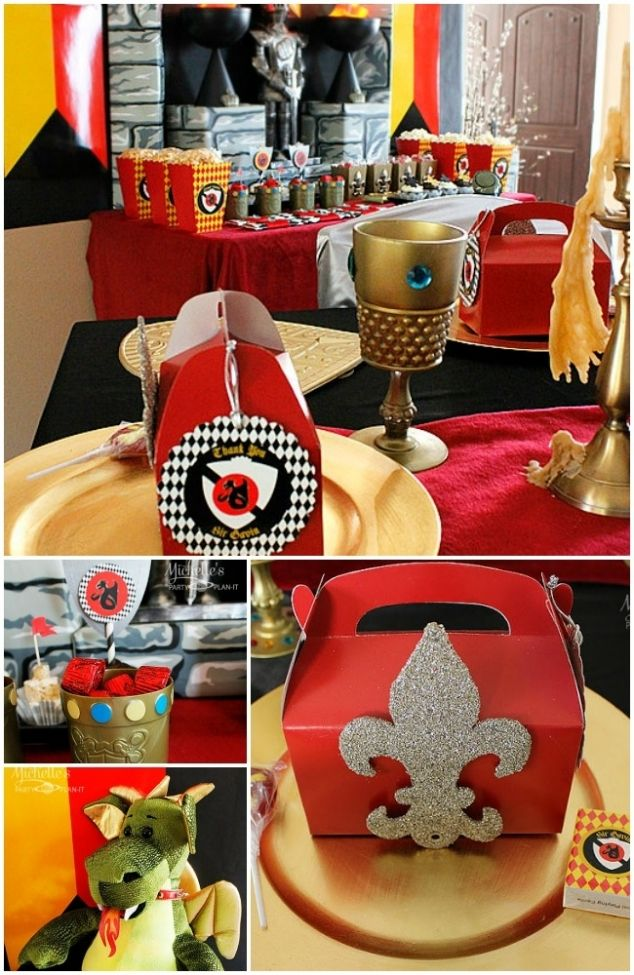 Knights and Dragon Birthday Party Ideas