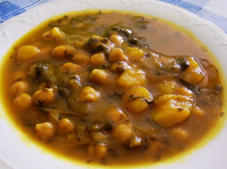 """Descubre el """"poor mans food"""": un estofado de Potaje de Garbanzos con Acelgas tipico de la tradicion Canaria"""