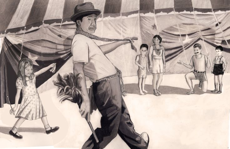 Carolyn Dee Flores - Pencil Drawing on Arches Watercolor Paper for THE CIRCUS