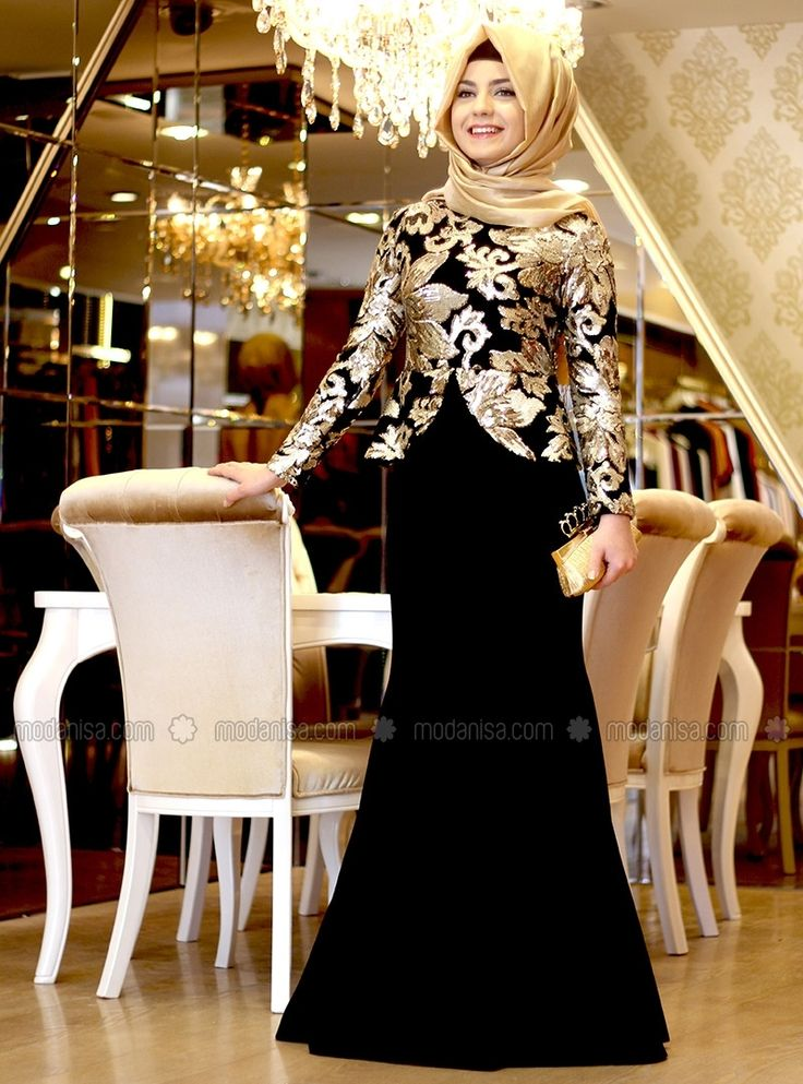 Saraylı Balık Abiye - Siyah - Pınar Şems
