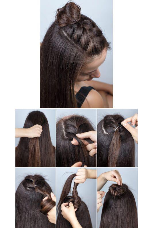 Coiffures de tressage: Instructions pour coiffer les cheveux   – Frisur ideen