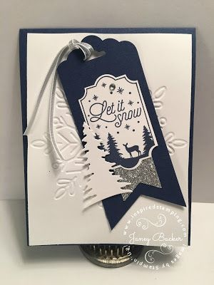 Inspired Stamping by Janey Backer: Team Swap Monday August 21, Winter Wonder, Merry Little Labels, Card Front Builder, Stampin' Up!