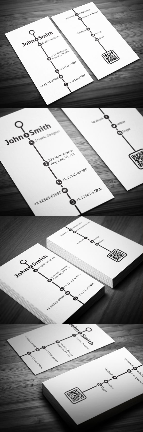217 Best Tarjetas Images On Pinterest Business Card Design