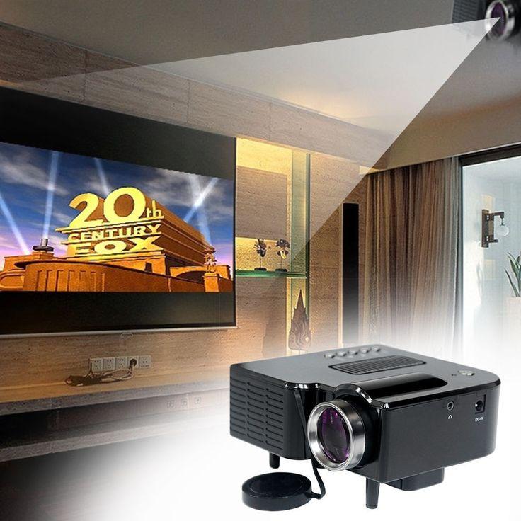 Mini HD 1080P LED Projector Home Cinema Theater Multimedia PC USB TV AV HDMI ET