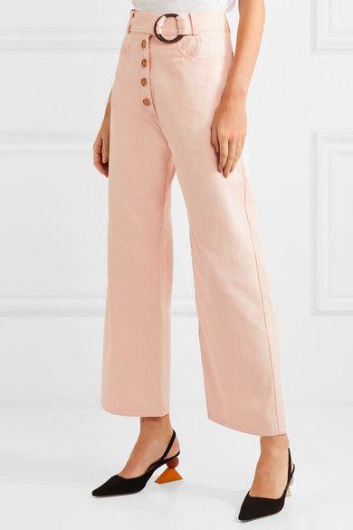 d221a8d4e809 REJINA PYO - Emily Belted High-rise Wide-leg Jeans - Peach in 2019 ...