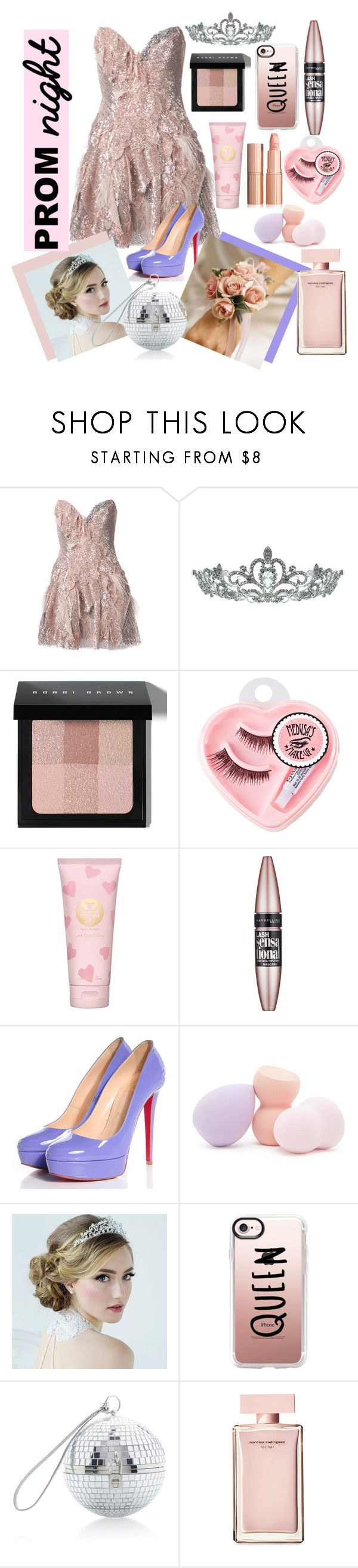 """""""Prom Queen"""" by mydreamingcloset ❤ liked on Polyvore featuring Trash-Couture, Kate Marie, Bobbi Brown Cosmetics, Medusa's Makeup, Tory Burch, Maybelline, Christian Louboutin, Forever 21, Casetify and Dolce&Gabbana"""