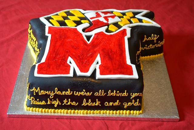University of MD Groom's cake - One of the wedding ideas I so wanted to do, but just didnt happen