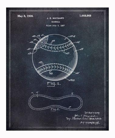 Another great find on #zulily! Baseball Art Print #zulilyfinds