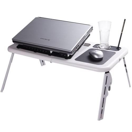 Mesa Notebook Com Cooler Suporte Base Porta Copo Mouse - $39.99