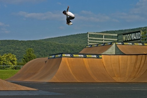 Skying over The Cage, Inline Skating- Woodward, PA