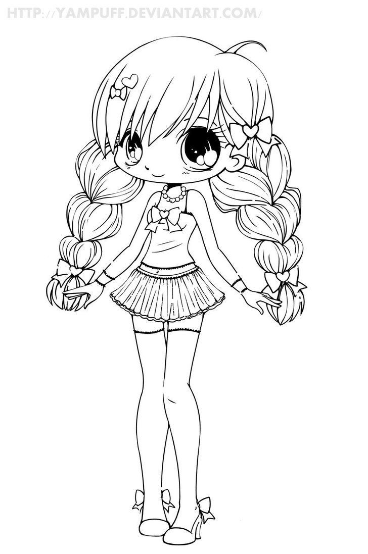 Cute Kawaii Chibi Anime Cutr Animal Coloring Pages In 2020 Chibi Coloring Pages Animal Coloring Pages Fox Coloring Page