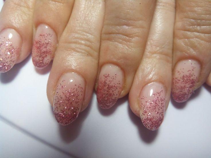 Beautiful glitter nails