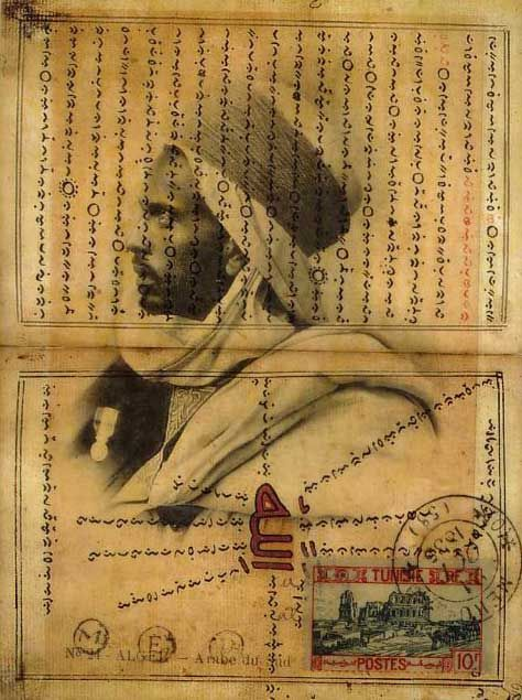 Nick Bantock One of his North African collages