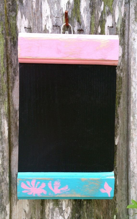 Pink and Blue Chalkboard by theLambandtheBear on Etsy