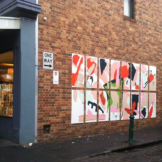 """@rafmacd's photo: """"My work for @melbfringe Uncommon Places project is up for 3 weeks at Readings Carlton. go have a look! #uncommonplaces #mfringe14 #rafaellamcdonald #haymespaint"""""""