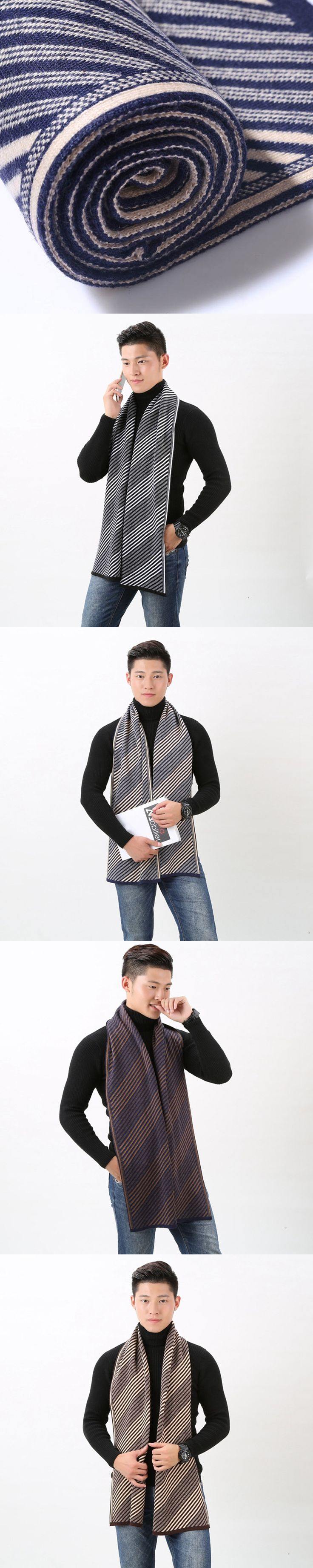 Winter Faux Cashmere Scarf Men 2017 Autumn Hiver Plaid Echarpe Shawl New Fashion Sjaal Heren England Scarves for Man Big Size