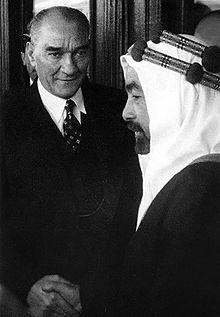 Ürdün Kralı I. Abdullah ile (1937)