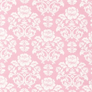 Pink Flannel Damask  - Warm Biscuit