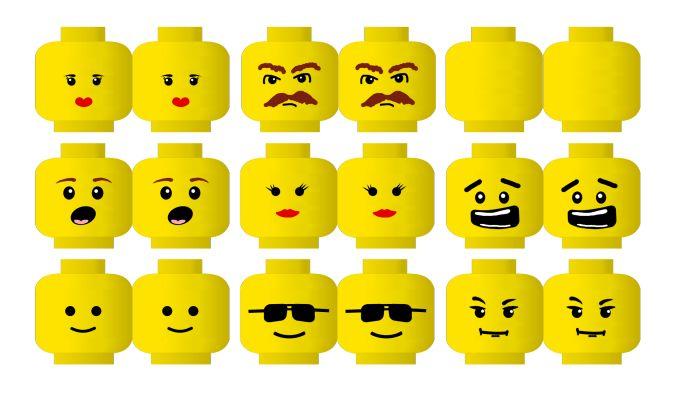 Lego Head With Bow DIY Printable