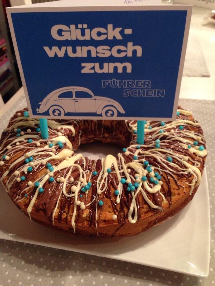 Happy Führerschein Marmorkuchen