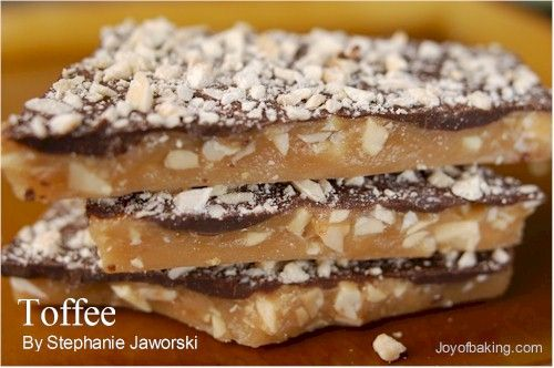 Toffee Recipe | Best and easiest toffee that I've had. I didn't use the almonds and used semi sweet chips for the top. Tastes just like a Skor bar. So good!