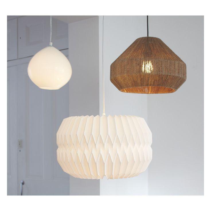 KURA Large white paper lamp shade D40 x H25cm   Buy now at Habitat UK