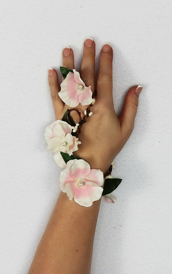 Image result for gradient flower corsage with finger loop
