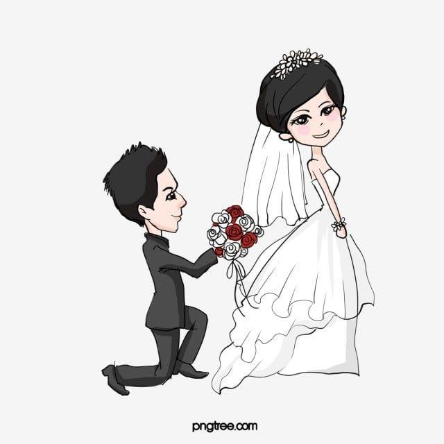 يركع على الزواج كرتون كرتون رسوم متحركة تزوج رومانسي Png وملف Psd للتحميل مجانا หมวกแดง เจ าสาว งานแต งงาน