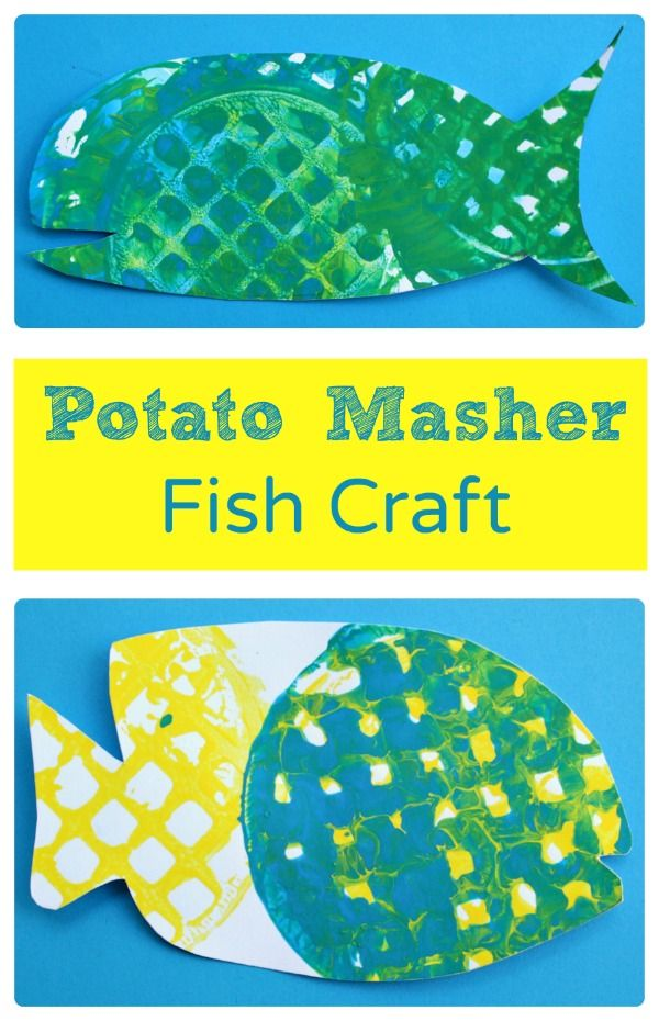 Potato Masher Fish Craft (from Fantastic Fun & Learning)