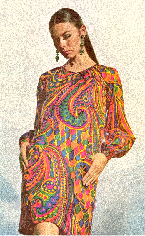 Would I wear this now? Yes I would. 1960's style psychedelic paisley trapeze