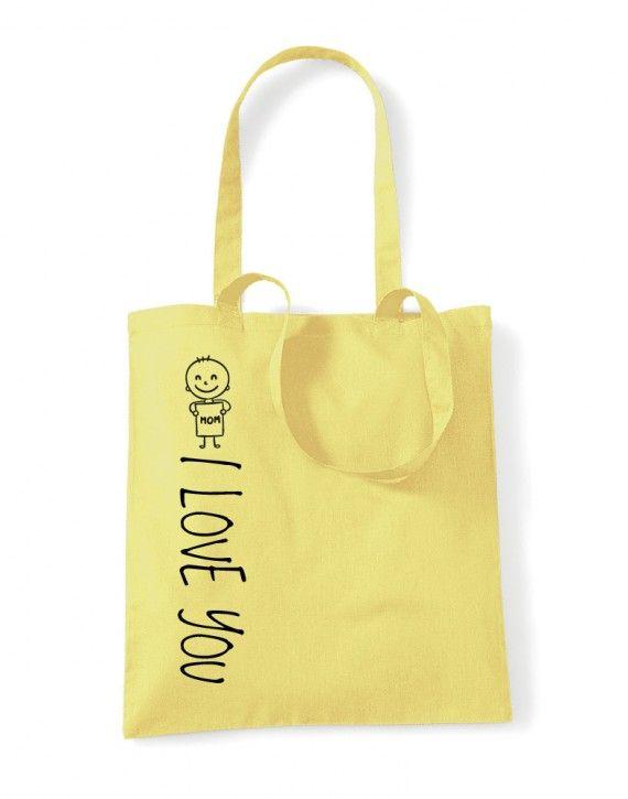 Shopper in cotone manici Lunghi sagome mother day festa della mamma ILU-09